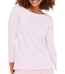 vineyard vines stripe simple boatneck cotton blend top, size xx-small in formosa stripe at nordstrom
