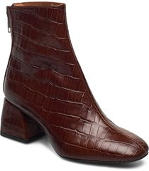 madrid boots shoes boots ankle boots ankle boot - heel brun twist & tango
