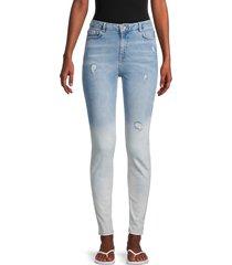 superdry women's sophia ombre skinny jeans - bleach blue - size 26 (2-4)