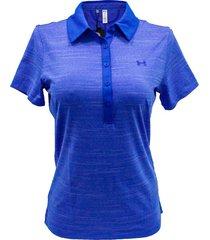 camiseta polo de golf para mujer under armour 1272336-985 - azul
