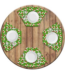 jogo americano love decor para mesa redonda wevans multi tocas natal love decor