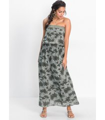 strapless maxi jurk met print
