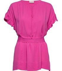 bai blouses short-sleeved rosa by malene birger
