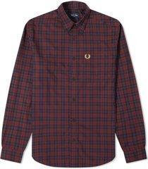 authentieke button down winter tartan shirt