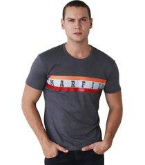 camiseta de hombre manga corta marfil slim fit algodon gris