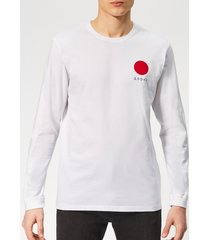 edwin men's japanese sun long sleeve t-shirt - white - xl - white