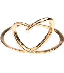 anel boca santa semijoias coração riscado ouro amarelo