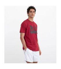 camiseta manga curta com estampa poderoso chefão   o poderoso chefão   vermelho   m