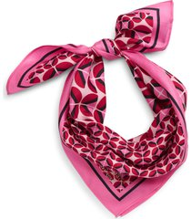 women's kate spade new york mod petal silk twill bandana, size one size - pink