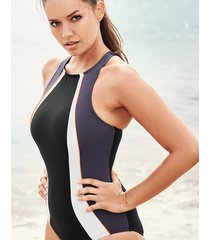 freestyle sports high neck shaping one-piece swimsuit