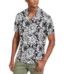 inc men's tie dye short sleeve shirt, created for macy's