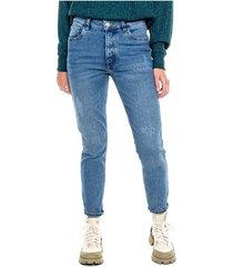 medium waist skinny jeans tono medio color blue