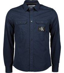 calvin klein overhemd - slim fit - blauw