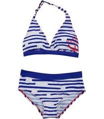 boobs & bloomers boobs & bloomers wit/ halter meisje bikini florine blauw