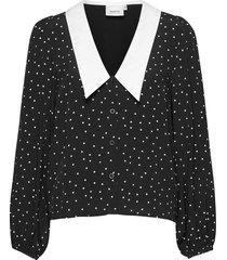 katlagz ls shirt overhemd met lange mouwen zwart gestuz