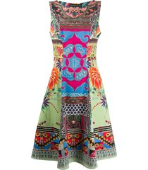 etro sleeveless patchwork print dress - pink