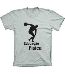 camiseta lu geek manga curta educação física prata
