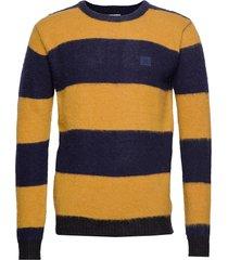 joel wool knit gebreide trui met ronde kraag multi/patroon les deux