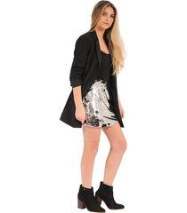 falda amelie rosé pistol para mujer - negro