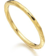 hammered ring, gold vermeil on silver