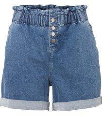 shorts di jeans paper bag a vita alta in cotone biologico (blu) - rainbow