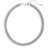 nordstrom double mesh collar necklace in rhodium at nordstrom