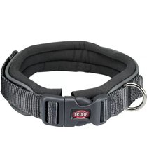 trixie collar premium perros neopreno gris talla m - l