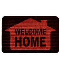 capacho carpet welcome home vermelho único love decor