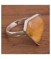 caramel opal cocktail ring, 'caramel' (peru)