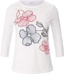 shirt 100% katoen ronde hals van mayfair by peter hahn wit