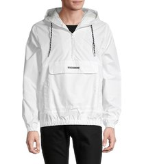 members only men's hooded drawstring jacket - white - size xl