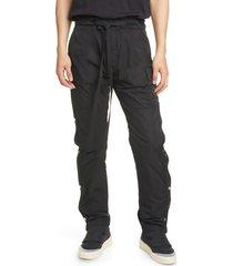 men's fear of god nylon cargo pants, size small - black