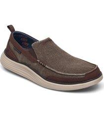 mens status 2.0 lenton loafers låga skor brun skechers