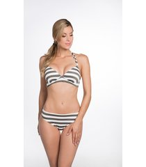 bomain halter bikini lurex stripe 22919-301 wit