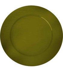 sousplat redondo dynasty 33 cm verde full fit