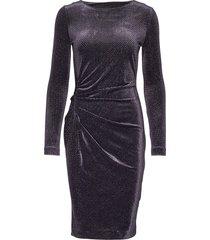 onoiw drape dress knälång klänning svart inwear