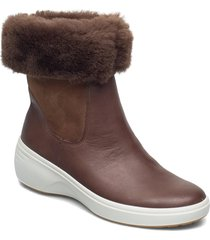 soft 7 wedge tred shoes boots ankle boots ankle boot - flat brun ecco