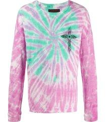 siberia hills ghost cross tie-dye sweatshirt - purple