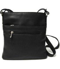 royce triple zip crossbody bag in colombian genuine leather