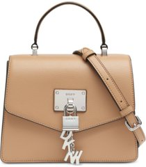 dkny elissa top handle leather satchel, created for macy's