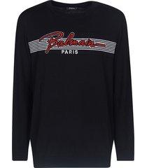 balmain signature embroidered sweatshirt