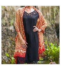 silk shawl, 'ceplok beteng' (indonesia)