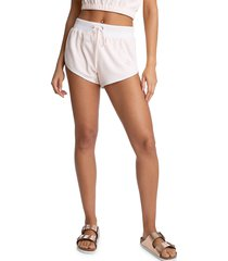 juicy couture women's retro-style dolphin shorts - black - size s