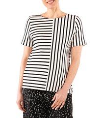 loyal hana ginger stripe maternity/nursing shirt, size small in cream w/black stripe at nordstrom
