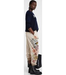 athleisure cargo trousers - brown - xl