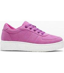 sneaker con plateau (viola) - rainbow