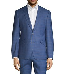 extra slim-fit windowpane check sport coat