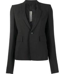 rick owens structured shoulder bell sleeve blazer - black