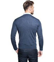 sweter roger półgolf niebieski 0001