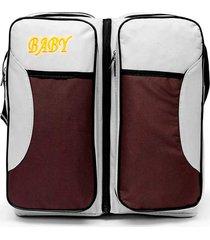 bolsa berço portátil baby bed & bag mala com trocador infantil bebê cinza